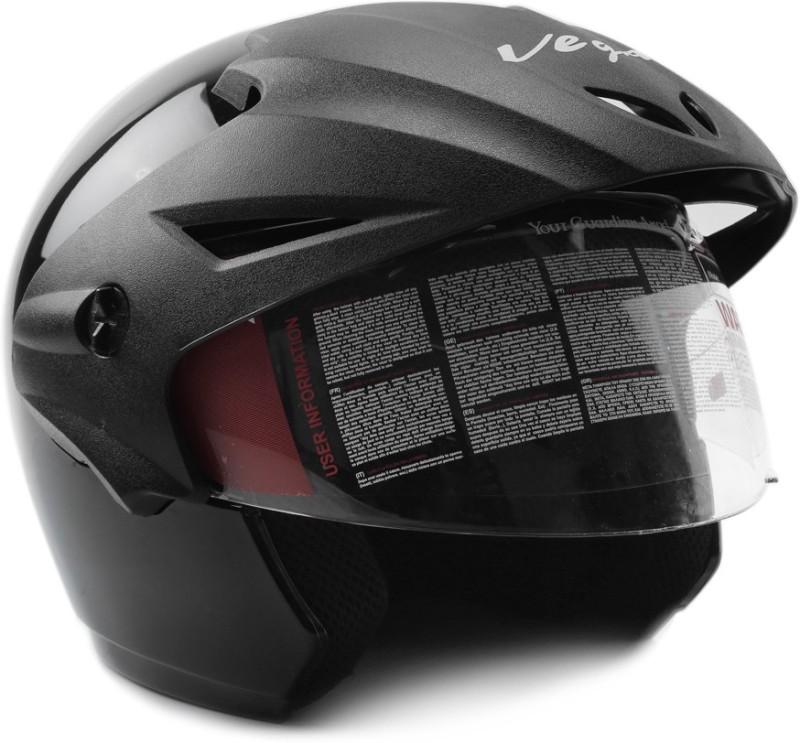 Vega Cruiser W/P Motorbike Helmet(Black)