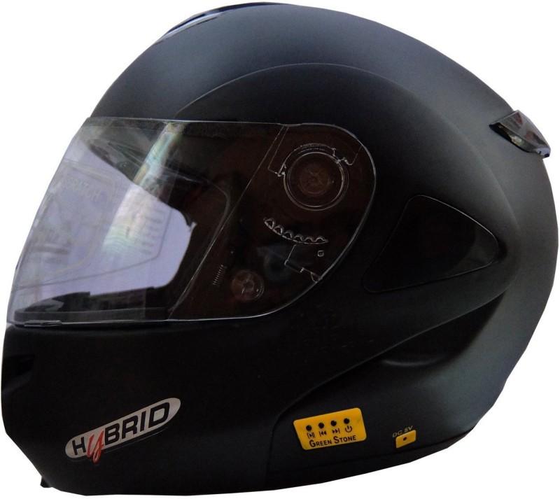 Greenstone Plain Bluetooth Motorbike Helmet(Matte Black)