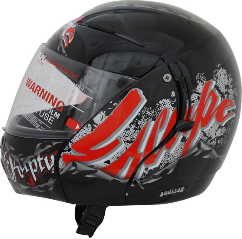 Vega Boolean Escape Motorsports Helmet(Black, Red)