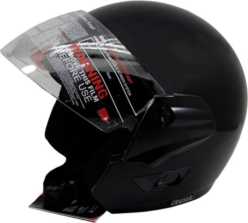Vega Cruiser Motorbike Helmet(Black)
