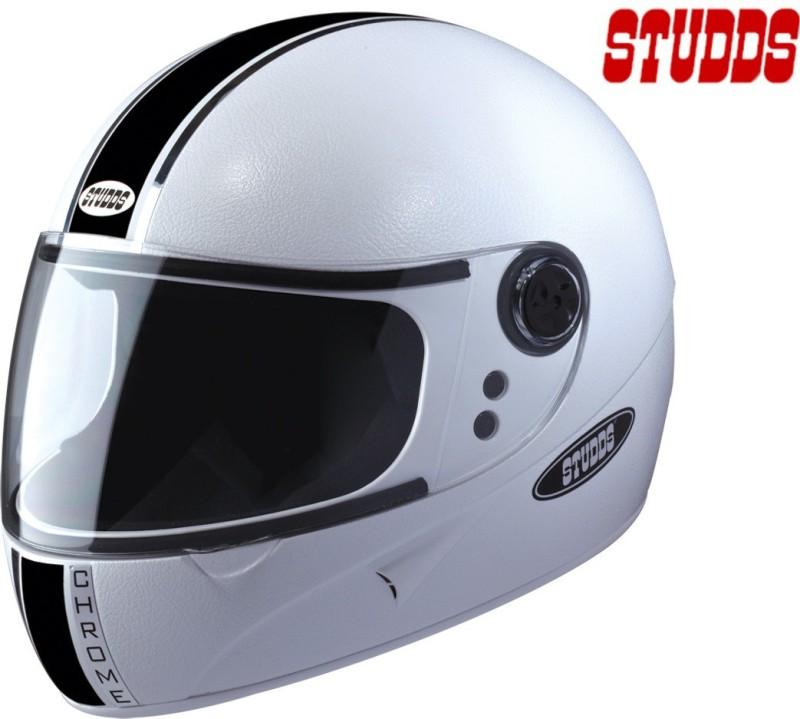 Studds Chrome Eco Motorsports Helmet(White)