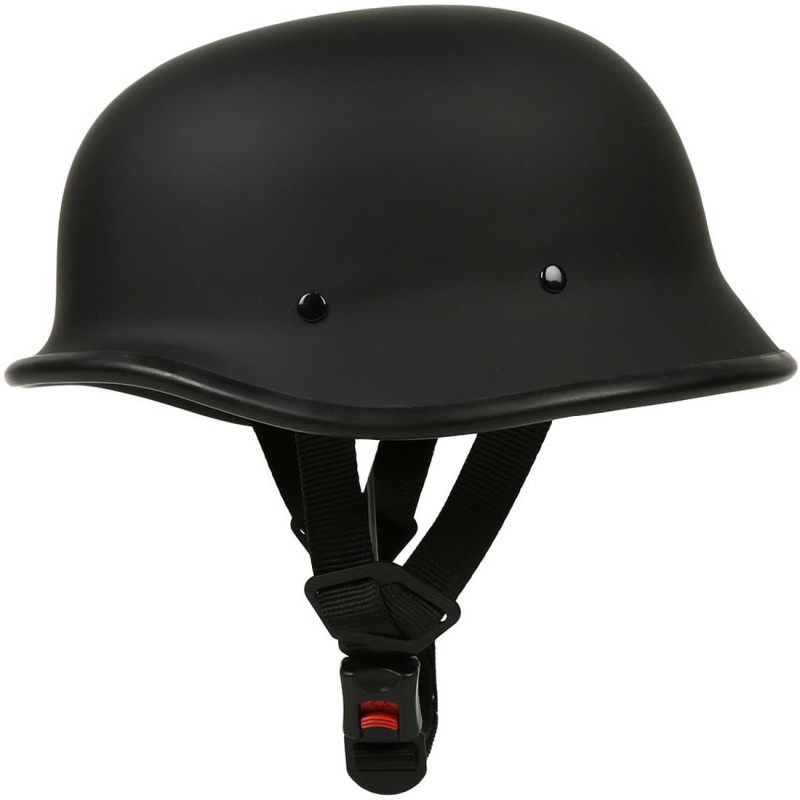 Anokhe Collections German World War 2 Retro Style Motorbike Helmet(Matte Black)