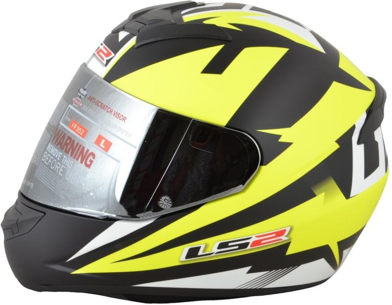 LS2 Dyno Motorbike Helmet(Black, Yellow)