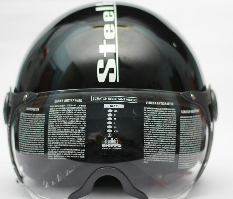 Steelbird SB-27 STYLE Motorsports Helmet(GLOSSY BLACK)