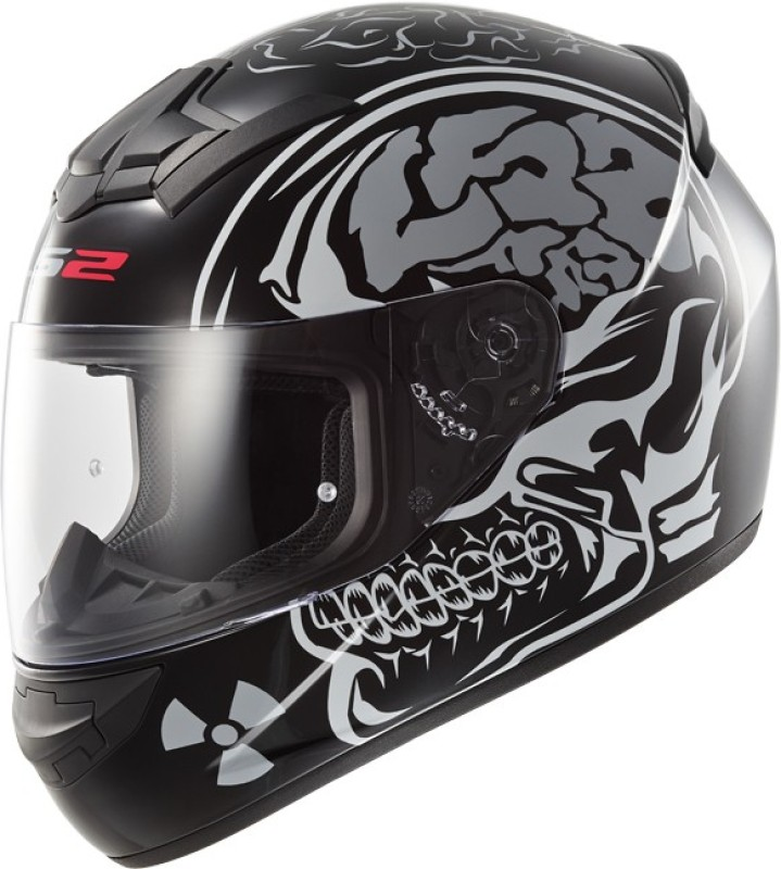 LS2 Ff350 X-Ray Motorbike Helmet(Black, Silver)