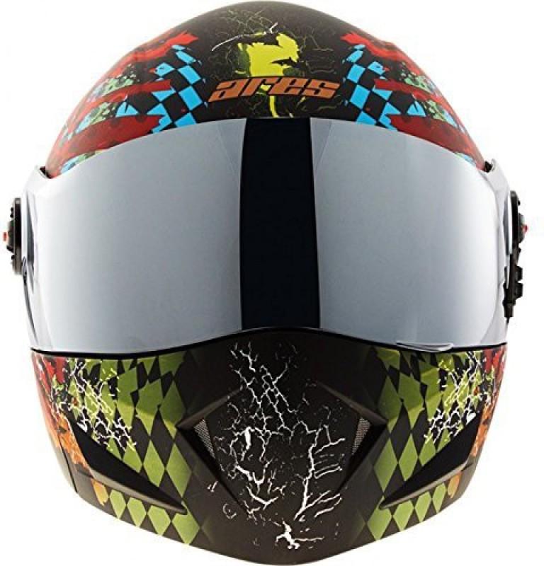 Steelbird SB-41 Ares Skull Motorbike Helmet(Matt Glossy Black)