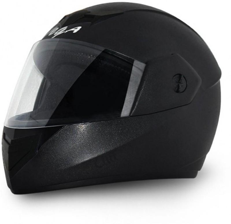 Vega Cliff Air Black Motorbike Helmet(Black)