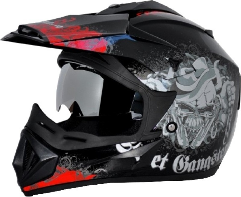 VEGA Off Road Gangster Motorsports Helmet(Black red)