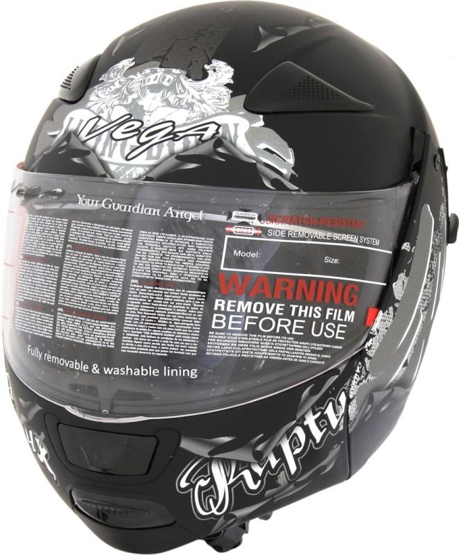 Vega Boolean Escape Motorsports Helmet(Dull Black, Silver)