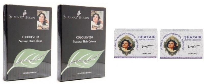 Shahnaz Husain Colourveda Hair Color & Shafair Ayurvedic Fairness Soap(200 g)