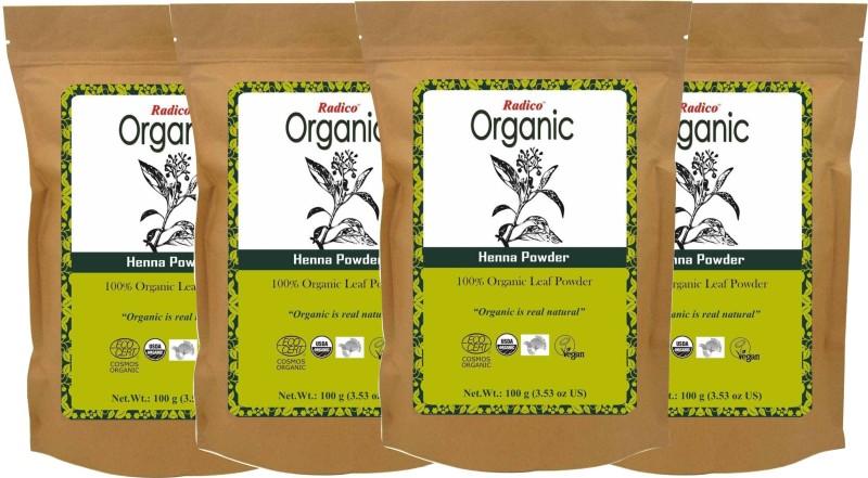 Radico Organic Henna Powder (Pack of 4)(400 g)