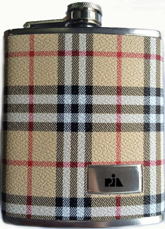 Pia International Leatherette Stainless Steel Hip Flask(207 ml)