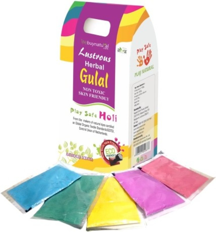 Lustrous Holi Color Powder Pack of 1(Yellow, Pink, Orange, Purple, Green, 500 g)
