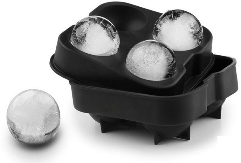 3DS Black Silicone Ice Ball Maker(Pack of 1)