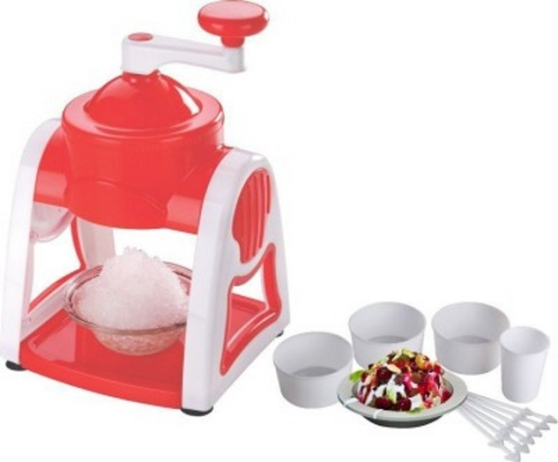 Your Choice Freeze Ice Gola / Slush / Crushed Ice Maker Hygienic / Clean / Safe Red & White Ice Maker