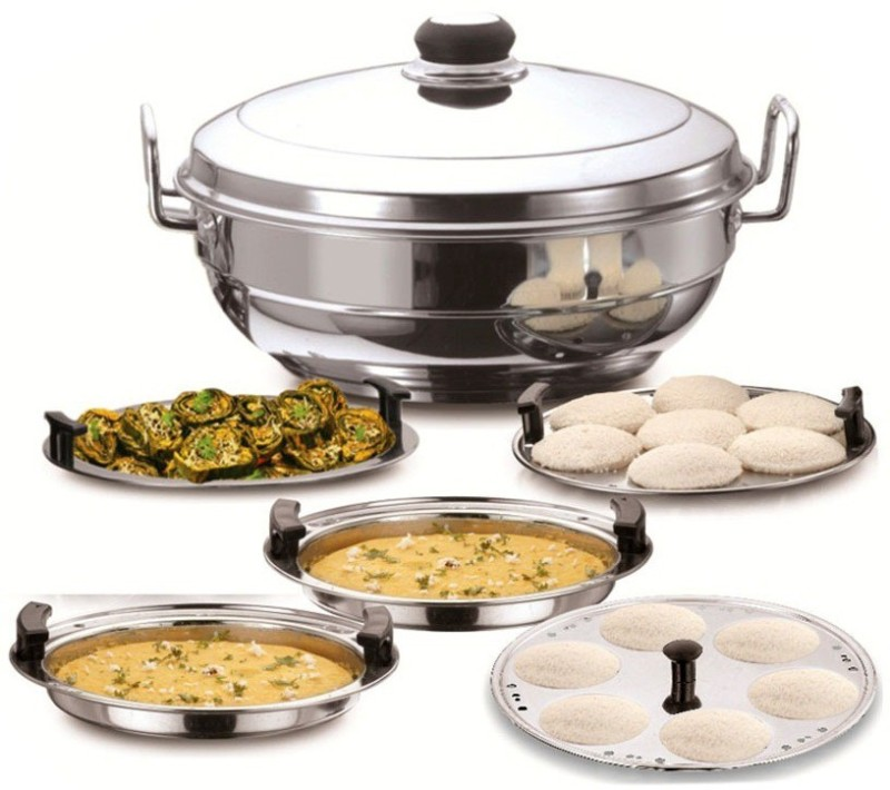 Corporate Overseas Standard Idli maker (Multi Kadai 5 Plate 14 Idli ) Induction & Standard Idli Maker(5 Plates , 14 Idlis )