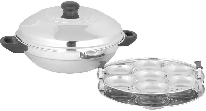 Premium Multi Kadai 14 Idly Pot - Stainless Steel Induction & Standard Idli Maker(2 Plates , 14 Idlis )