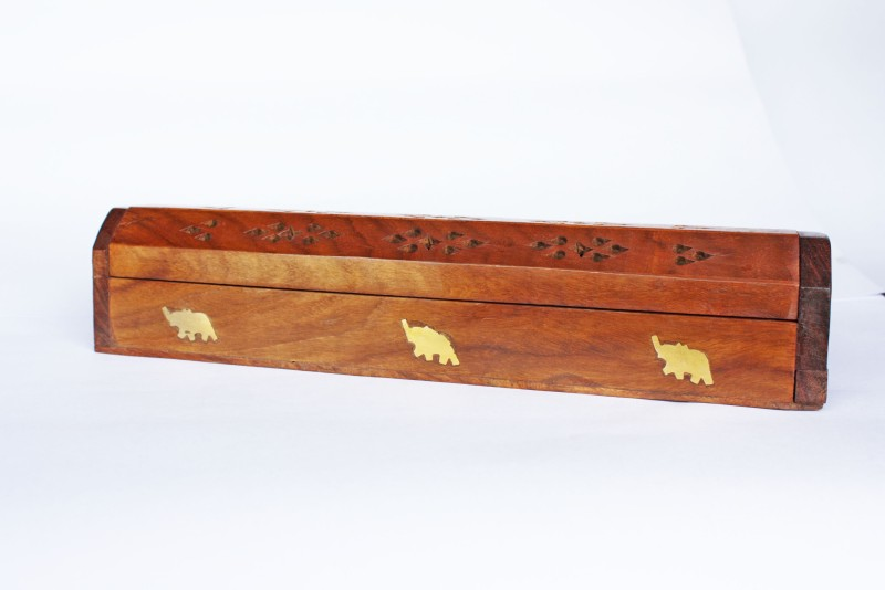 Vincy Wooden Incense Holder Set(Brown, Pack of 1)
