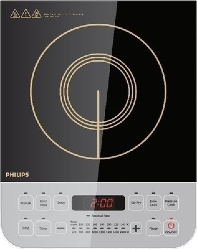Philips HD4928 Non-stick Cookware Induction Cooktop Induction Cooktop(Black, Push Button)