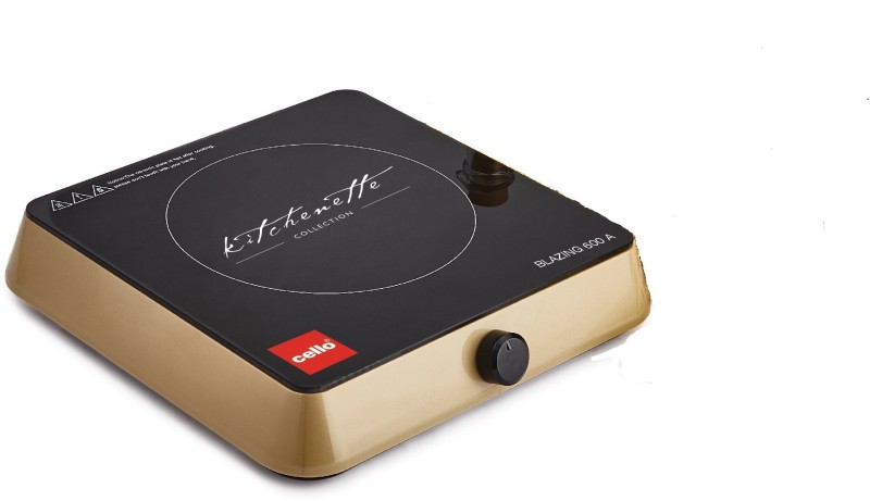 Cello BLAZING 600 A Induction Cooktop(Gold, Black, Push Button)