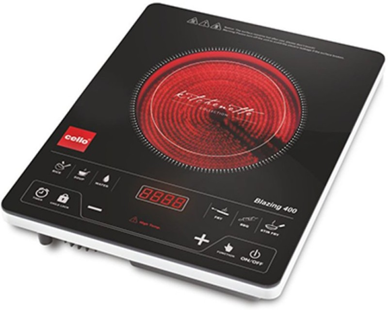 Cello Blazing 400 Induction Cooktop(Black, Touch Panel)
