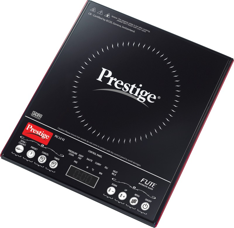 Prestige PIC 3.0 V2 Induction Cooktop(Black, Touch Panel)