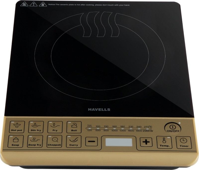Havells ST-X Induction Cooktop(Gold, Black, Touch Panel)