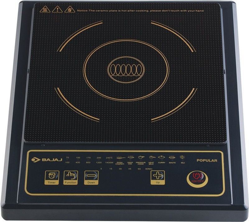 Bajaj Popular Induction Cooktop(Black, Touch Panel)