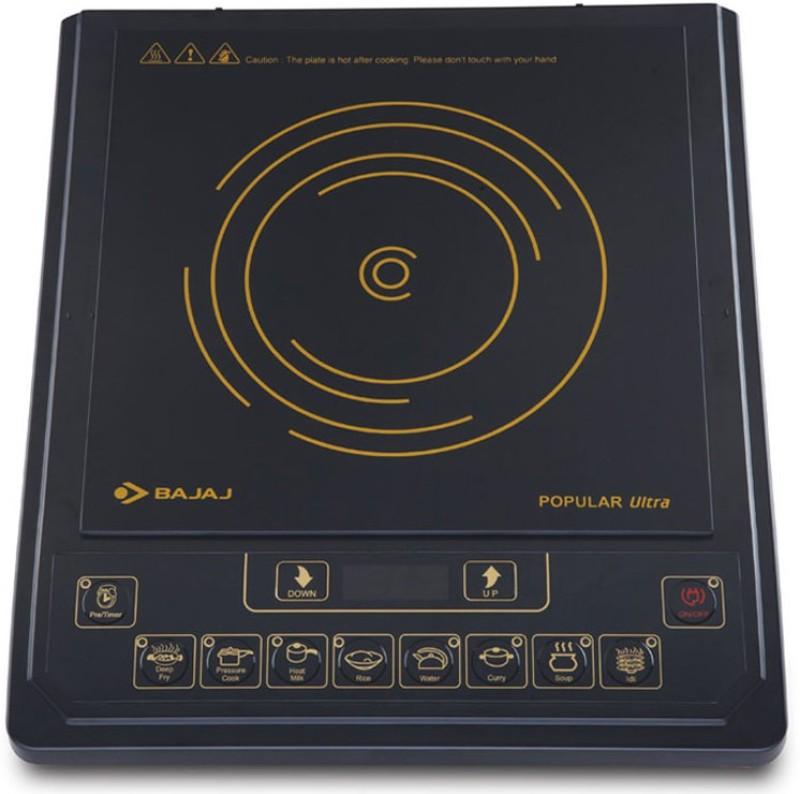 Bajaj 1 Induction Cooktop(Black, Push Button)