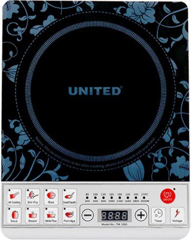 United TM-18B1 Induction Cooktop(Black, Push Button)
