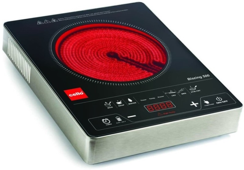 Cello Blazing 500 Induction Cooktop(Black, Push Button)