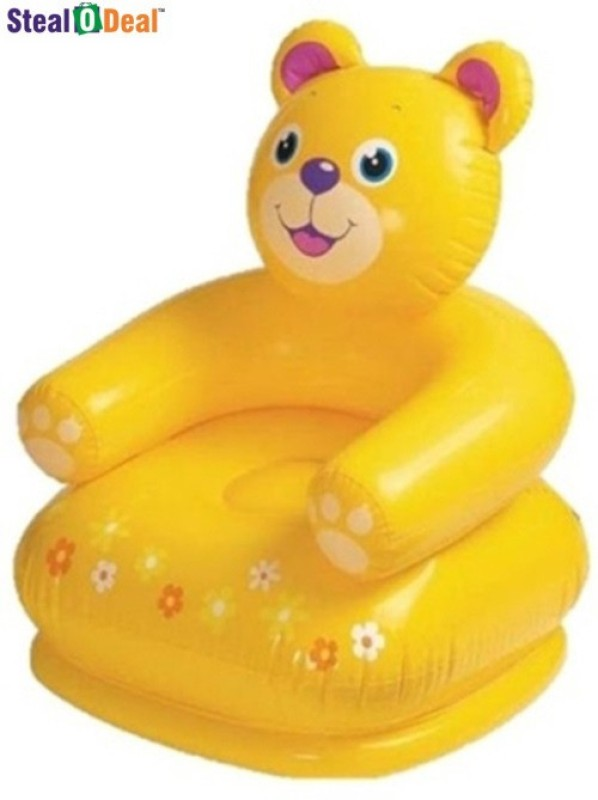 Intex Stealodeal Teddy Chair Inflatable Chair(Yellow)