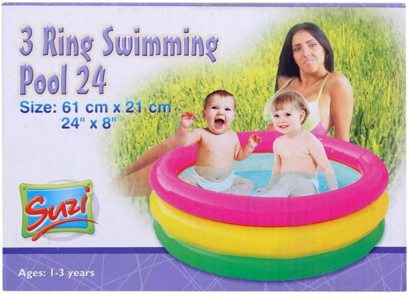 Suji 3 Ring Swimming Pool 24 Inch Inflatable Pool(Multicolor)