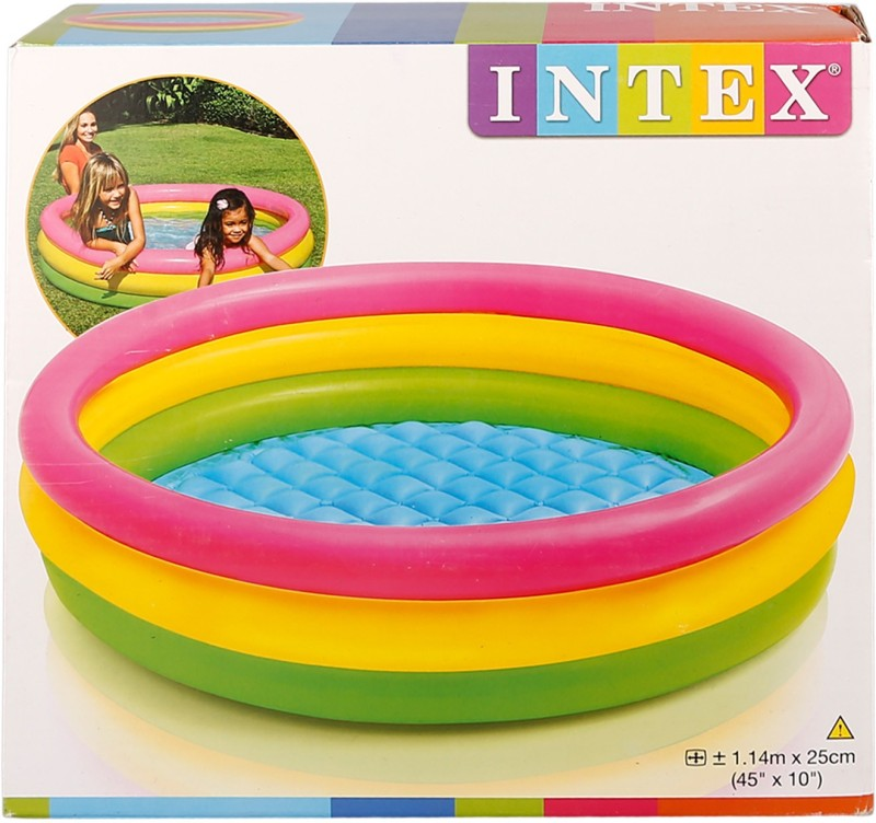 Brecken Paul Childrens Playing Swimming Inflatable Pool(Multicolor)