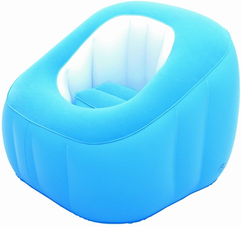 Bestway Karmax Comfi Cube Chair (Blue) PVC 1 Seater Inflatable Sofa(Color - Blue)