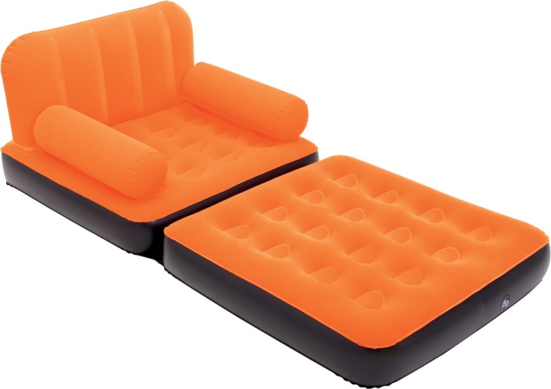 Bestway Karmax Multi-Max Air Couch (Single) PVC 1 Seater Inflatable Sofa(Color - Orange)