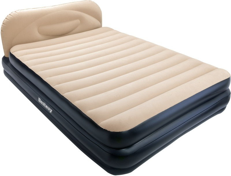 Bestway Karmax Soft-Back Elevated Queen Airbed (Color - Black) PVC 2 Seater Inflatable Sofa(Color - Black)