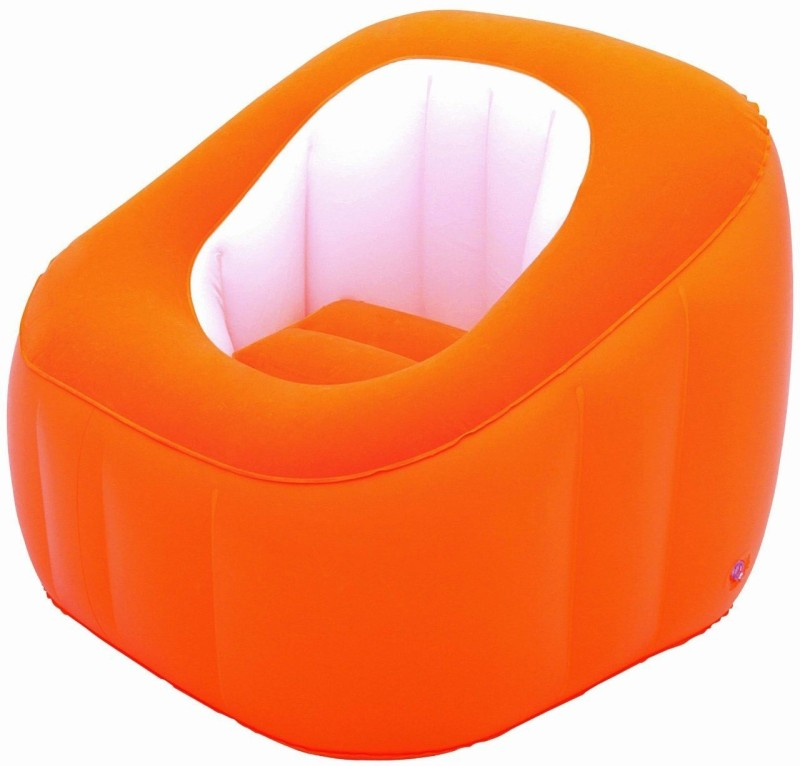 Bestway Karmax Comfi Cube Chair (Orange) PVC 1 Seater Inflatable Sofa(Color - Orange)