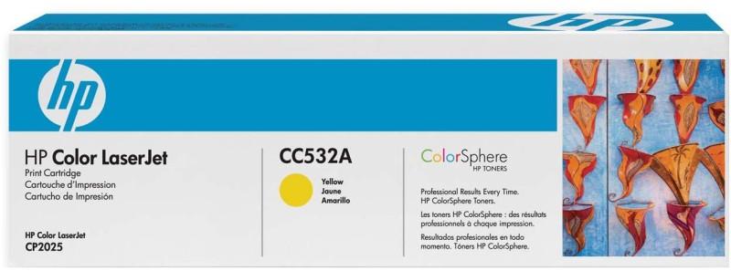 HP Color LaserJet CC532A Yellow Print Cartridge(Yellow)
