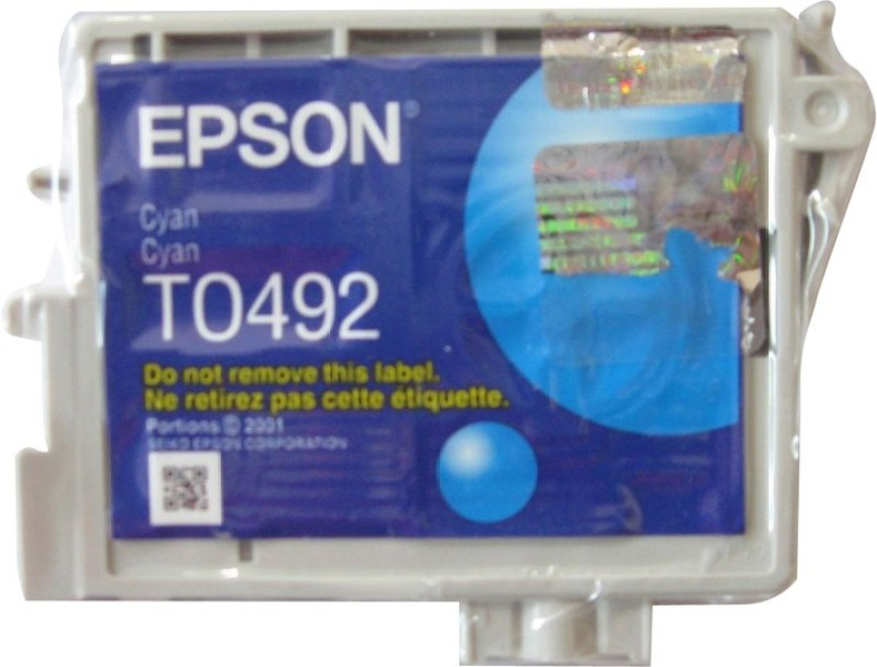 Epson Cartridge T0492 Original Single Color Ink(Cyan) T0492