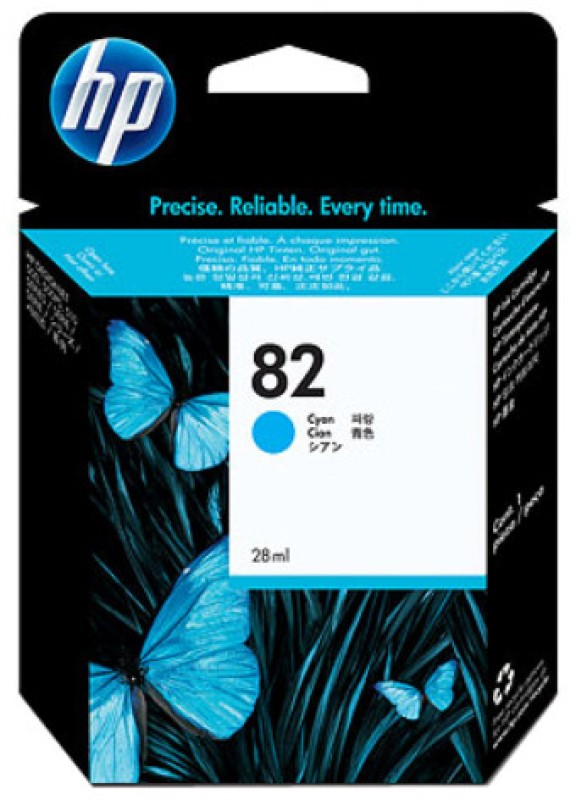 HP 82 28-ml Cyan Ink Cartridge(Cyan) CH566A