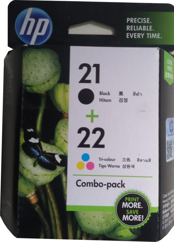 HP 21/22 Combo Pack Multicolor Ink Cartridge(Black, Magenta, Cyan, Yellow) CC630AA
