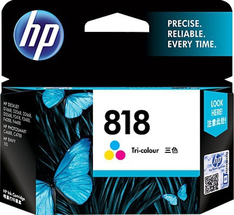 HP 818 Tri Color Ink Cartridge(Black, Magenta, Cyan, Yellow) CC643ZZ
