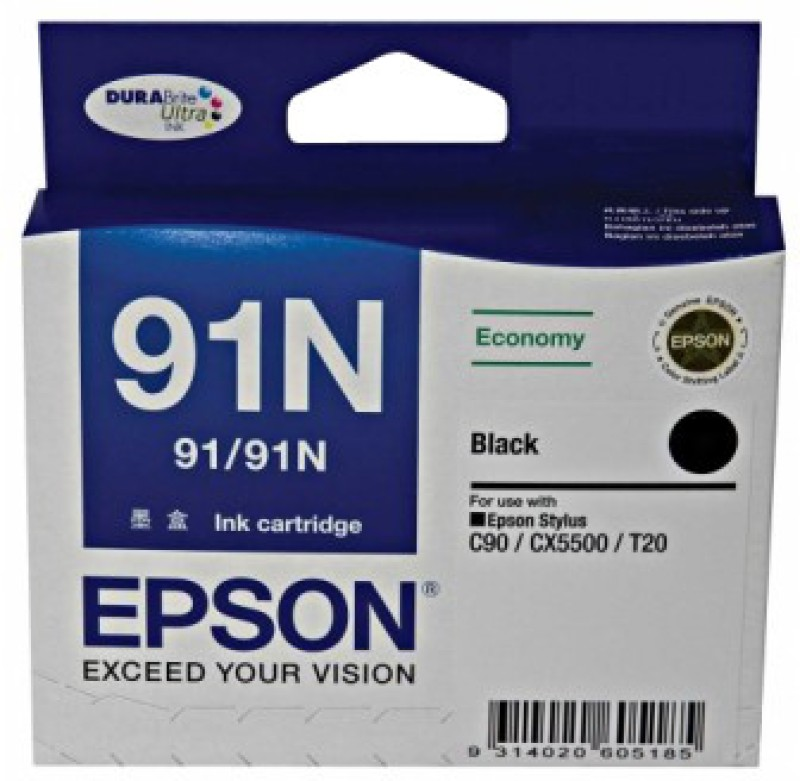 Epson 91N Black Ink cartridge C13T107190(Black) C13T107190
