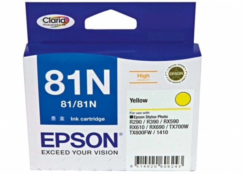 Epson 81N Original Single Color Ink(Yellow) 81N