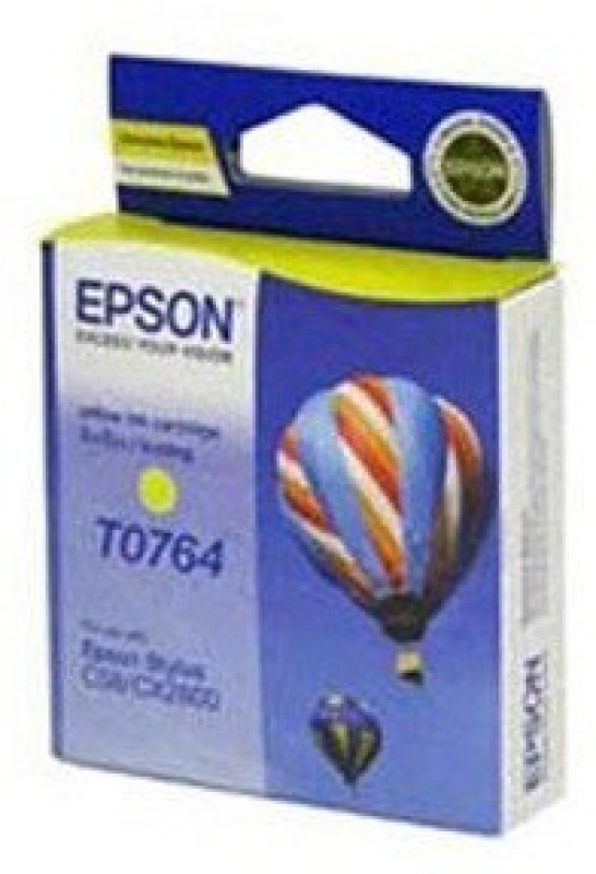 Epson Cartridge T0764 Original Single Color Ink(Yellow) T0764