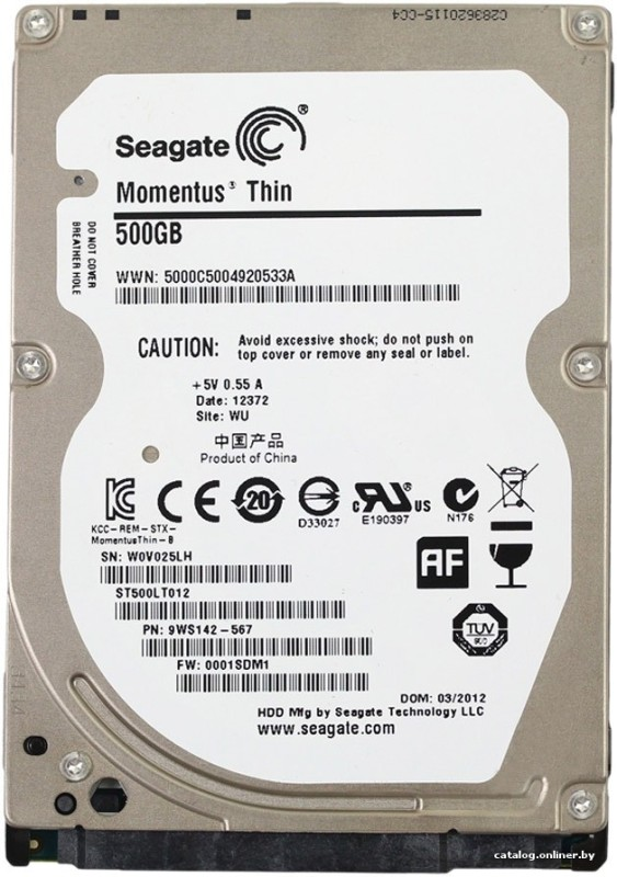 Seagate laptop thin 500 GB Laptop Internal Hard Disk Drive (ST500LTO12)