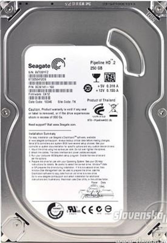Seagate Pipeline HD2 250GB Desktop Internal Hard Disk Drive (ST3250412CS)