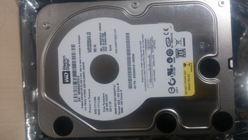 WD Sata 320 GB Desktop Internal Hard Disk Drive (WD3200AVJS)
