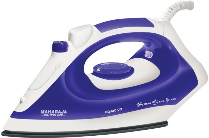 Maharaja Whiteline AQUAO DELUXE 1400 W Steam Iron(White, Blue)